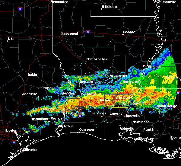 Radar Image for Severe Thunderstorms near Ville Platte, LA at 5/8/2020 2:50 PM CDT