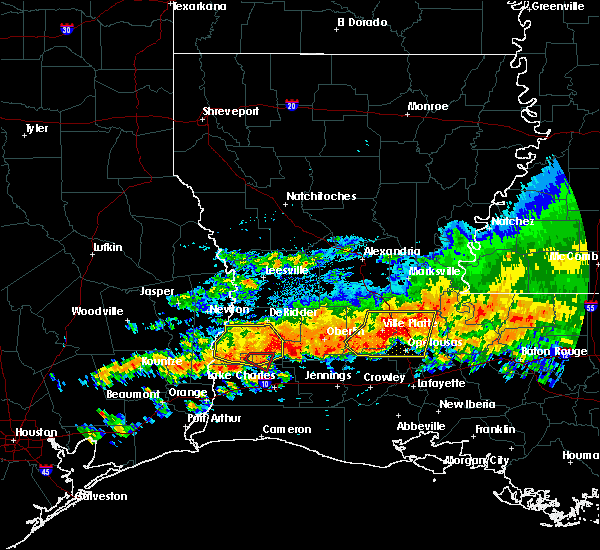 Radar Image for Severe Thunderstorms near Ville Platte, LA at 5/8/2020 2:58 PM CDT