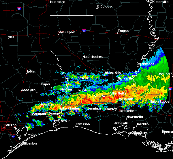 Radar Image for Severe Thunderstorms near Ville Platte, LA at 5/8/2020 3:05 PM CDT