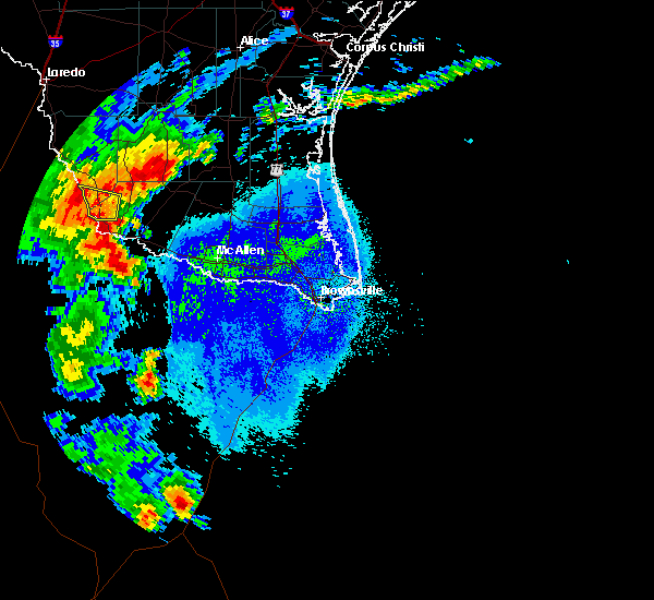 Radar Image for Severe Thunderstorms near Los Arrieros, TX at 5/8/2020 9:25 PM CDT