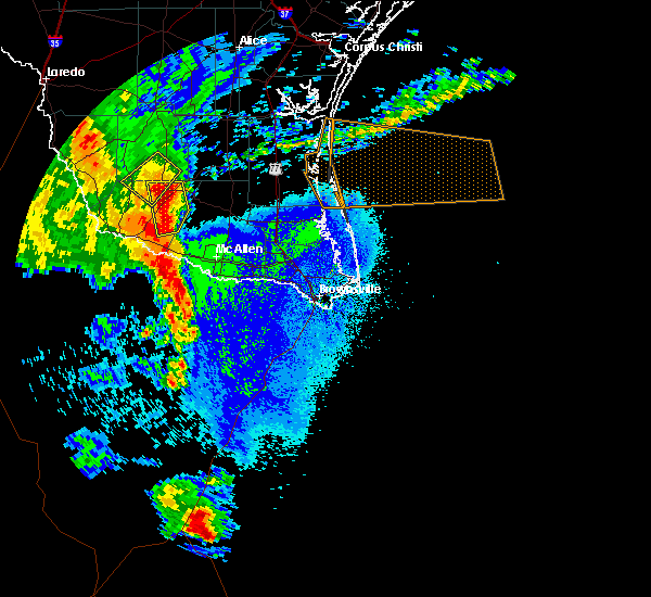 Radar Image for Severe Thunderstorms near North Alamo, TX at 5/8/2020 10:15 PM CDT