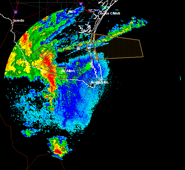 Radar Image for Severe Thunderstorms near Mission, TX at 5/8/2020 10:26 PM CDT