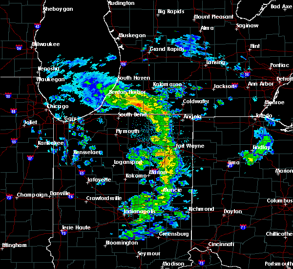 Radar Image for Severe Thunderstorms near Fort Wayne, IN at 5/10/2020 1:53 PM EDT