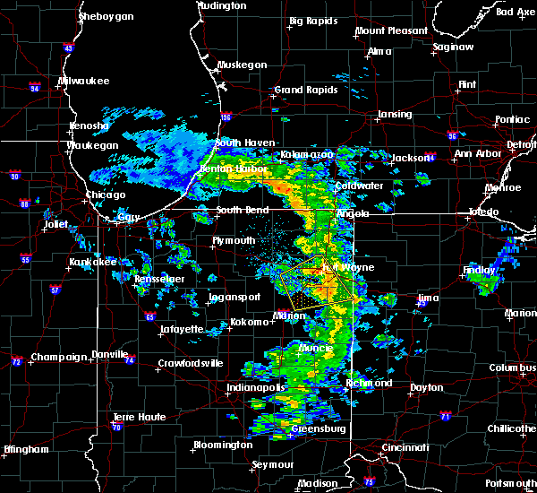 Radar Image for Severe Thunderstorms near Harlan, IN at 5/10/2020 2:11 PM EDT