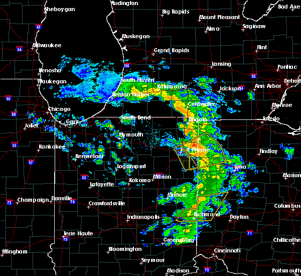 Radar Image for Severe Thunderstorms near Harlan, IN at 5/10/2020 2:44 PM EDT