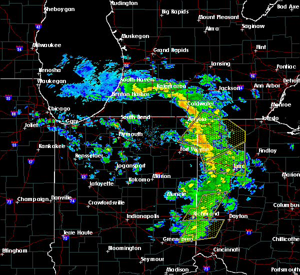Radar Image for Severe Thunderstorms near Harlan, IN at 5/10/2020 2:56 PM EDT