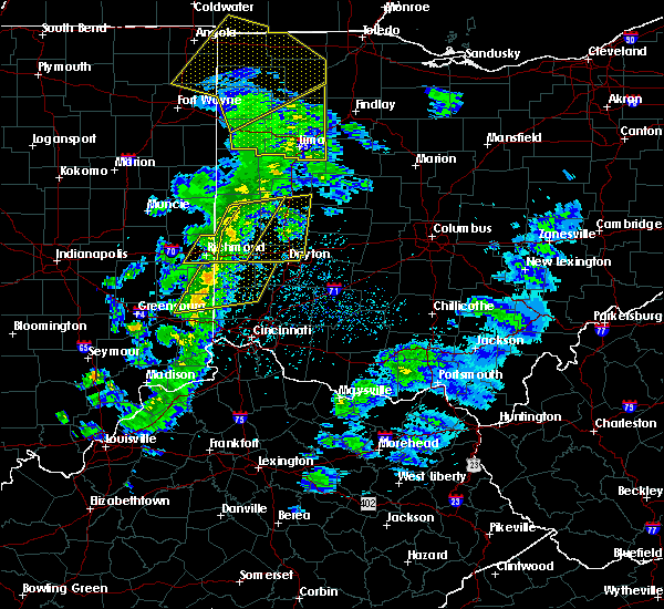 Radar Image for Severe Thunderstorms near Fletcher, OH at 5/10/2020 2:57 PM EDT