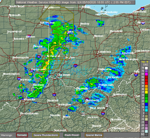Radar Image for Severe Thunderstorms near Rising Sun, IN at 5/10/2020 3:03 PM EDT