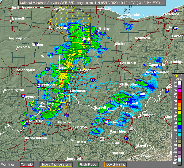Radar Image for Severe Thunderstorms near Ridgeway, OH at 5/10/2020 3:14 PM EDT
