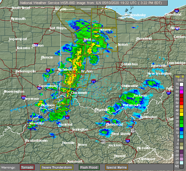 Radar Image for Severe Thunderstorms near Crestview Hills, KY at 5/10/2020 3:30 PM EDT