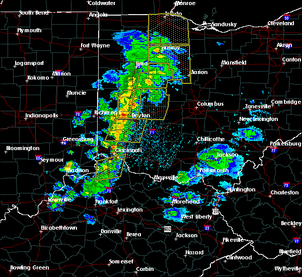 Radar Image for Severe Thunderstorms near Fairfax, OH at 5/10/2020 3:35 PM EDT