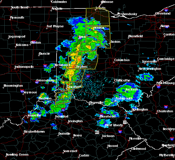 Radar Image for Severe Thunderstorms near Brookville, OH at 5/10/2020 3:40 PM EDT