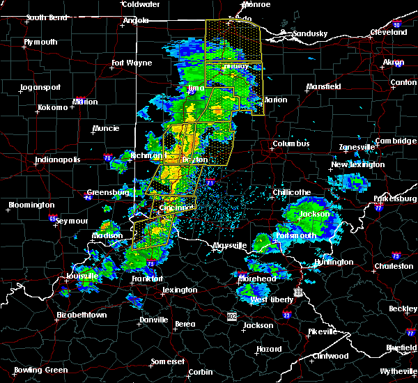 Radar Image for Severe Thunderstorms near St. Paris, OH at 5/10/2020 3:47 PM EDT