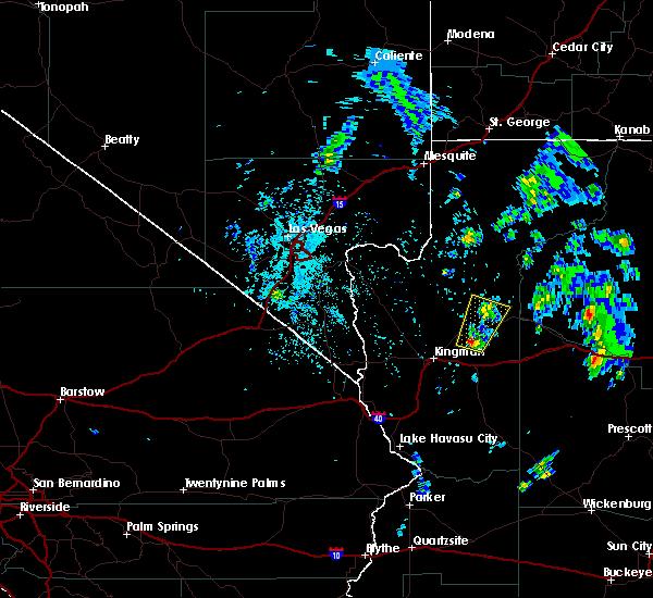 Radar Image for Severe Thunderstorms near Peach Springs, AZ at 5/10/2020 12:48 PM MST