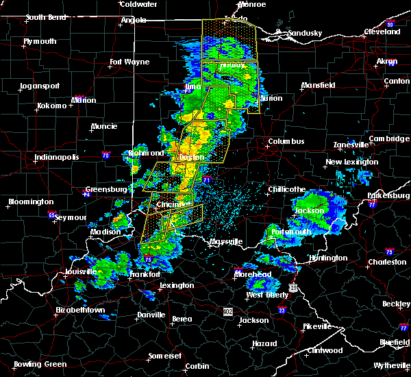 Radar Image for Severe Thunderstorms near New Riegel, OH at 5/10/2020 4:00 PM EDT
