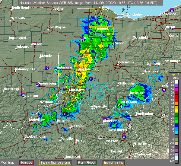 Radar Image for Severe Thunderstorms near Shawnee Hills, OH at 5/10/2020 4:00 PM EDT