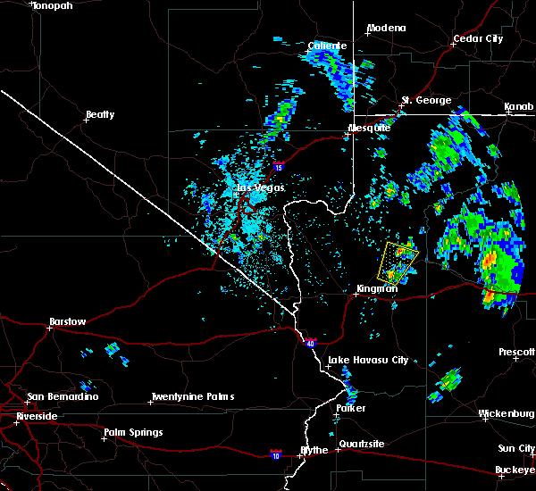 Radar Image for Severe Thunderstorms near Peach Springs, AZ at 5/10/2020 1:04 PM MST