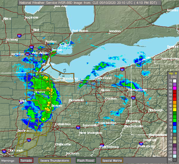 Radar Image for Severe Thunderstorms near Attica, OH at 5/10/2020 4:17 PM EDT