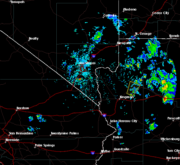 Radar Image for Severe Thunderstorms near Peach Springs, AZ at 5/10/2020 1:26 PM MST