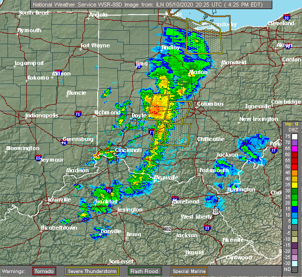 Radar Image for Severe Thunderstorms near Lake Darby, OH at 5/10/2020 4:28 PM EDT