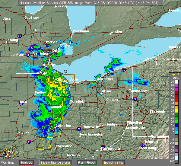 Radar Image for Severe Thunderstorms near New Haven, OH at 5/10/2020 4:52 PM EDT