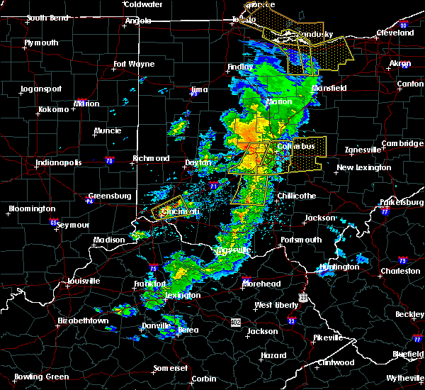 Radar Image for Severe Thunderstorms near Westerville, OH at 5/10/2020 5:01 PM EDT