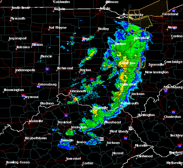Radar Image for Severe Thunderstorms near Newark, OH at 5/10/2020 5:35 PM EDT