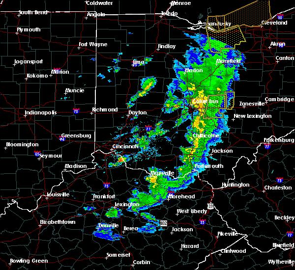Radar Image for Severe Thunderstorms near Glenford, OH at 5/10/2020 5:35 PM EDT