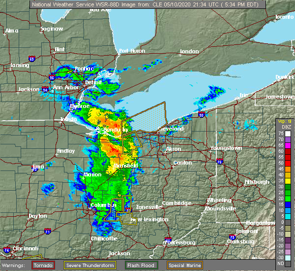 Radar Image for Severe Thunderstorms near Trinway, OH at 5/10/2020 5:41 PM EDT