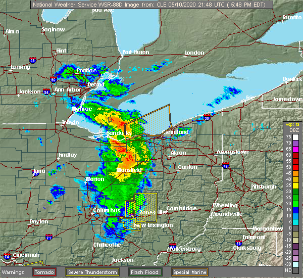 Radar Image for Severe Thunderstorms near Trinway, OH at 5/10/2020 5:53 PM EDT