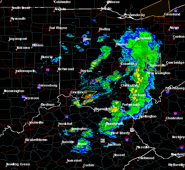 Radar Image for Severe Thunderstorms near Lynchburg, OH at 5/10/2020 6:05 PM EDT