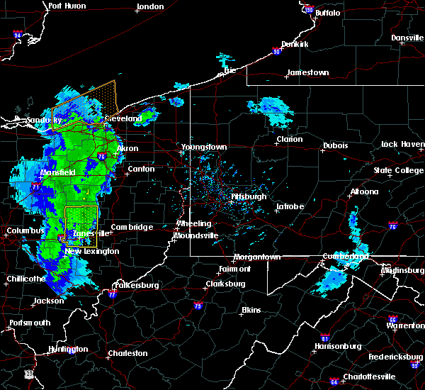 Radar Image for Severe Thunderstorms near Midvale, OH at 5/10/2020 6:12 PM EDT
