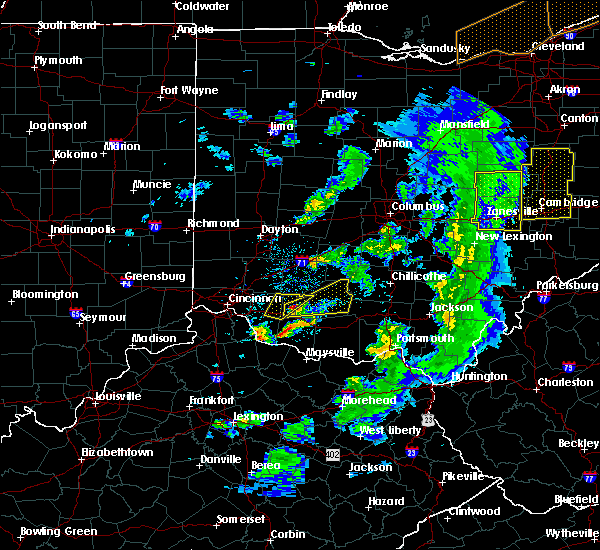 Radar Image for Severe Thunderstorms near Lynchburg, OH at 5/10/2020 6:14 PM EDT