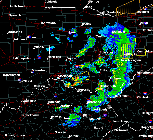 Radar Image for Severe Thunderstorms near West Union, OH at 5/10/2020 6:21 PM EDT