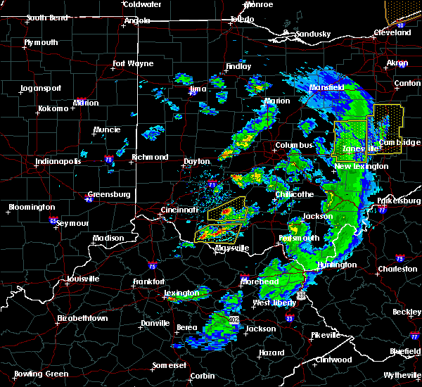 Radar Image for Severe Thunderstorms near Hillsboro, OH at 5/10/2020 6:36 PM EDT