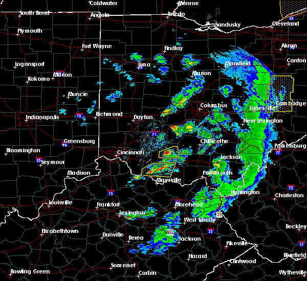Radar Image for Severe Thunderstorms near West Union, OH at 5/10/2020 6:40 PM EDT