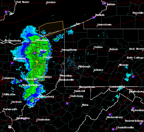 Radar Image for Severe Thunderstorms near Sugarcreek, OH at 5/10/2020 6:54 PM EDT
