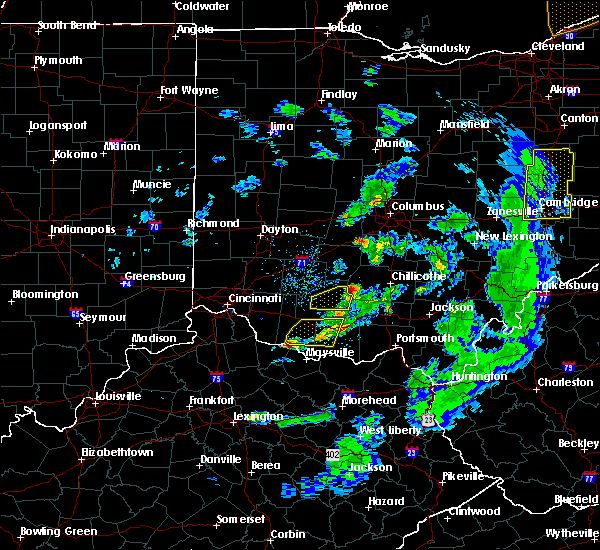 Radar Image for Severe Thunderstorms near West Union, OH at 5/10/2020 6:57 PM EDT