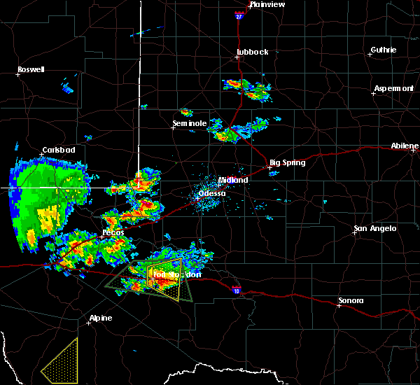 Radar Image for Severe Thunderstorms near Goldsmith, TX at 5/11/2020 6:36 PM CDT