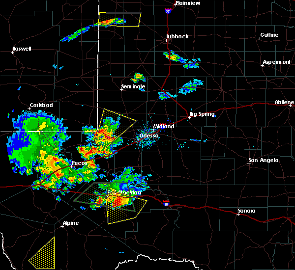 Radar Image for Severe Thunderstorms near Goldsmith, TX at 5/11/2020 6:53 PM CDT
