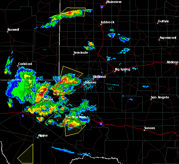 Radar Image for Severe Thunderstorms near Goldsmith, TX at 5/11/2020 7:18 PM CDT