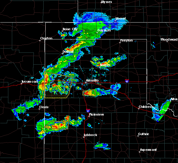 Radar Image for Severe Thunderstorms near Hereford, TX at 5/11/2020 7:24 PM CDT