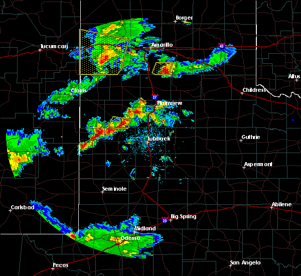 Radar Image for Severe Thunderstorms near New Deal, TX at 5/11/2020 8:01 PM CDT