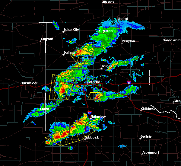 Radar Image for Severe Thunderstorms near Cactus, TX at 5/11/2020 8:07 PM CDT
