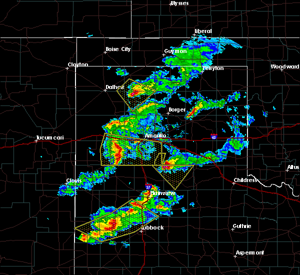 Radar Image for Severe Thunderstorms near Cactus, TX at 5/11/2020 8:28 PM CDT