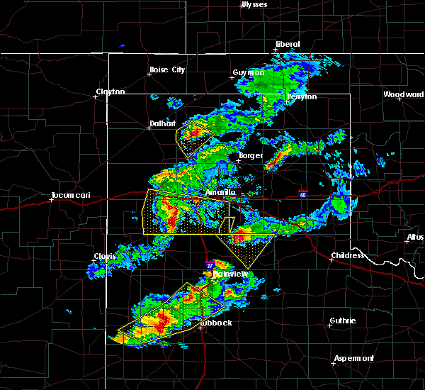 Radar Image for Severe Thunderstorms near Hereford, TX at 5/11/2020 8:35 PM CDT