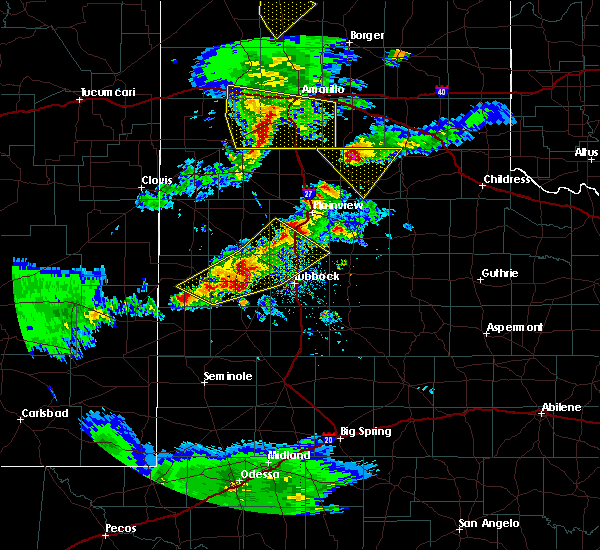 Radar Image for Severe Thunderstorms near New Deal, TX at 5/11/2020 8:37 PM CDT