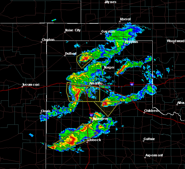 Radar Image for Severe Thunderstorms near Cactus, TX at 5/11/2020 8:40 PM CDT