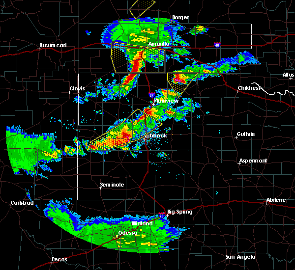 Radar Image for Severe Thunderstorms near New Deal, TX at 5/11/2020 8:48 PM CDT