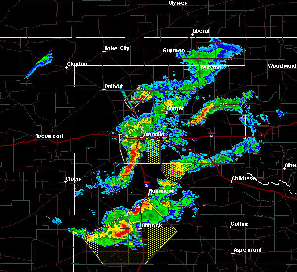 Radar Image for Severe Thunderstorms near Cactus, TX at 5/11/2020 8:54 PM CDT